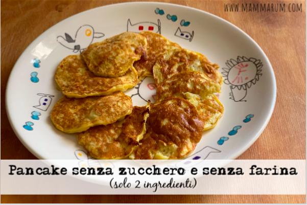 Pancake uova e banana, senza zucchero e senza farina