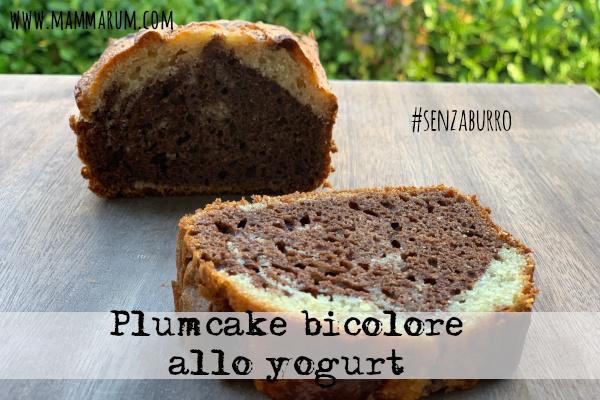 Plumcake bicolore allo yogurt senza burro