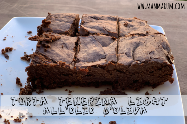 Torta tenerina light senza burro all'olio di oliva