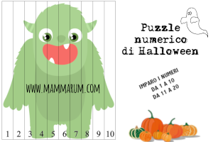 Puzzle numerico di Halloween