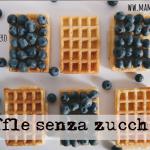 Waffle vegan senza zucchero