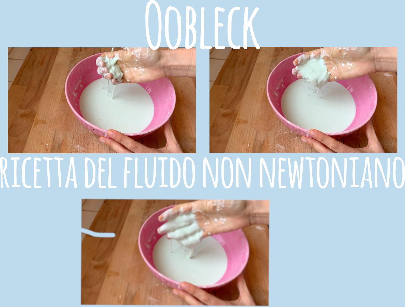 Oobleck ricetta del fluido non newtoniano