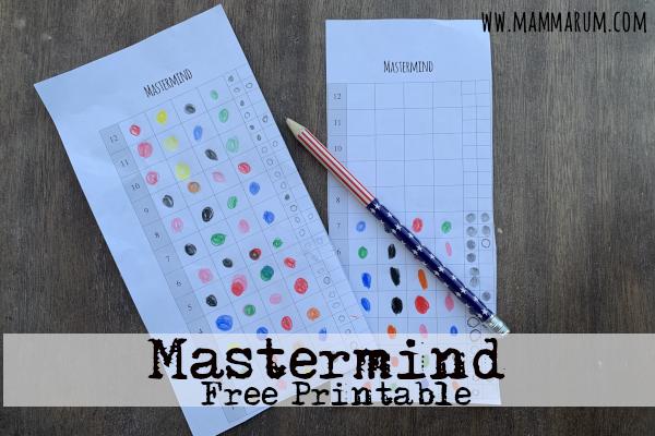 Mastermind free printable gioco da stampare