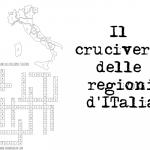 Cruciverba regioni italiane da stampare