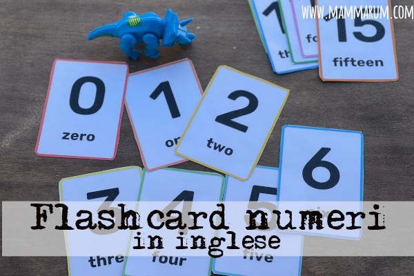 flashcard numeri da stampare in inglese