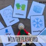 Winter flashcard da stampare