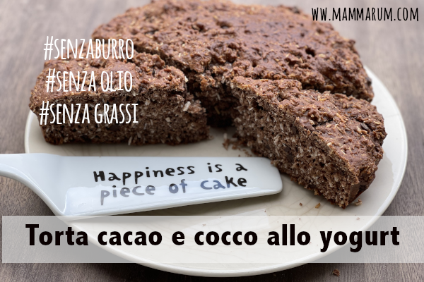 Torta cacao e cocco allo yogurt senza grassi