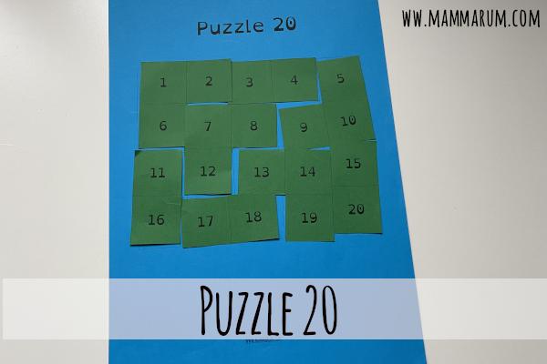 Gioco per imparare i numeri da 1 a 20: il Puzzle 20!